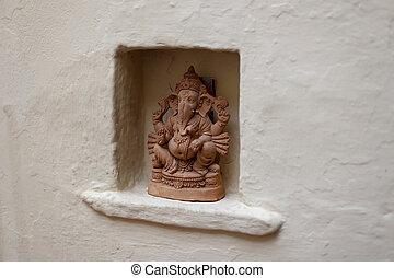 sculpture of a Hindu god Ganesha
