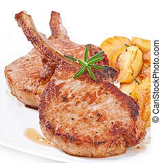 grilled pork fillet steak - Juicy grilled pork fillet steak...