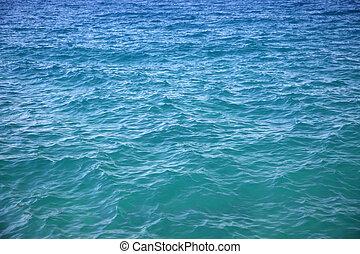 水, 藍色, 海, 表面
