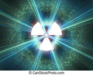 nuclear, radiación, símbolo
