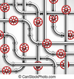 Metal pipes, industrial background, eps 10