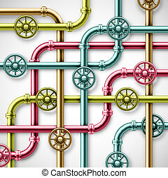 Colorful pipes - Colorful metal pipes eps 10
