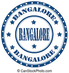 Bangalore-stamp - Grunge rubber stamp with word...