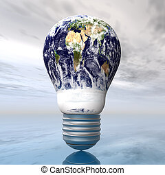 Light Bulb - Computer generated 3D illustration with an...