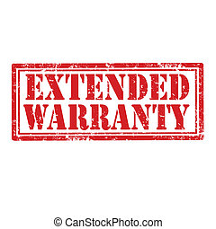 Extended Warranty-stamp - Grunge rubber stamp with text...