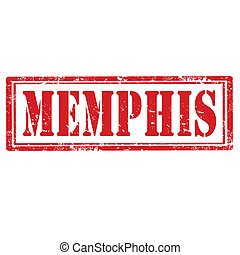 Memphis-stamp - Grunge rubber stamp with word Memphis,vector...