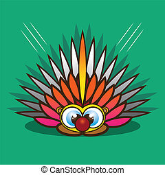 Porcupine cartoon eps 10 vector