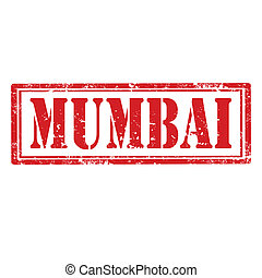 Mumbai-stamp - Grunge rubber stamp with word Mumbai,vector...