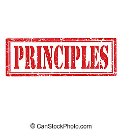 Principles-stamp - Grunge rubber stamp with word...