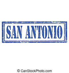 San Antonio-stamp - Grunge rubber stamp with text San...