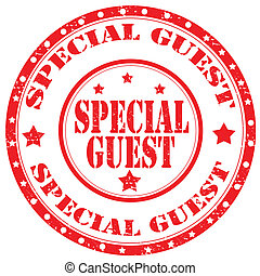 Special Guest-stamp - Grunge rubber stamp with text Special...