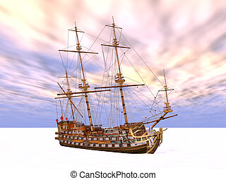 Sailing Ship in the Eternal Ice