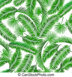 Tropical palm tree seampless pattern background template...