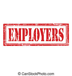Employers-stamp - Grunge rubber stamp with word...