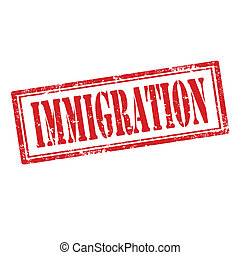 Immigration-stamp - Grunge rubber stamp with text...