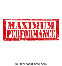 Maximum Performance-stamp - Grunge rubber stamp with text...