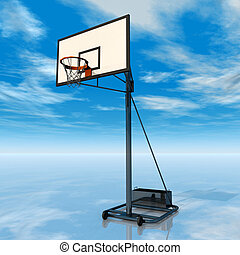 Backboard - Computer generated 3D illustration with a...