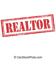 Realtor-stamp - Grunge rubber stamp with word Realtor,vector...