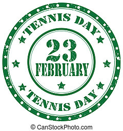 Tennis Day-stamp