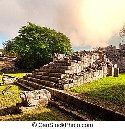 pirámide, detalle,  México