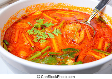 Thai Food Tom Yum Goong - Thai Food name Tom Yum Goong is...