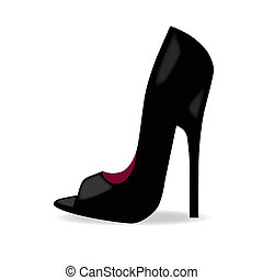 woman high heel shoe illustration vector format