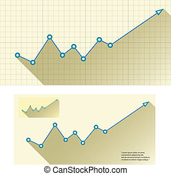 Business graph and chart. vector illustration