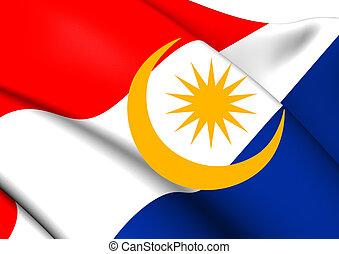 Flag of Labuan, Malaysia.