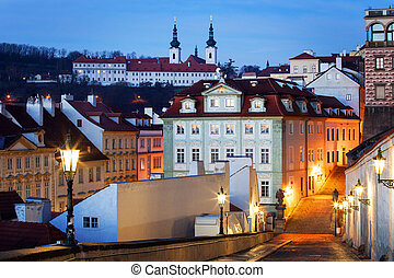 Czech Republic, Prague, Mala Strana during sunset - Czech...
