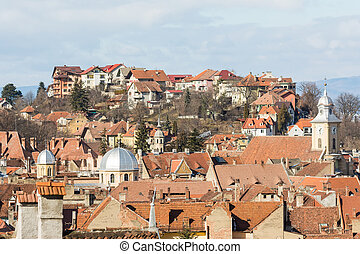 Brasov Medieval City Rooftops View
