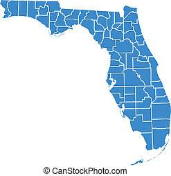 Florida map by counties