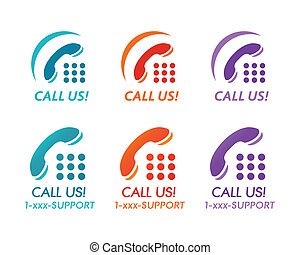 Call us buttons or icons for phone customer support
