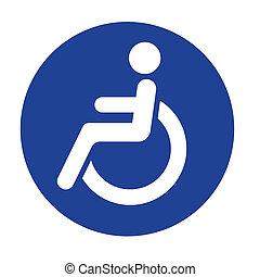 handicap, logotipo