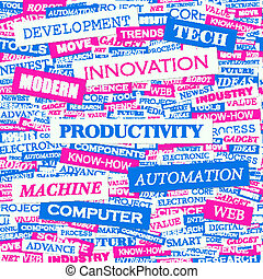 PRODUCTIVITY Word cloud illustration Tag cloud concept...