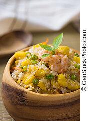 chinese fried rice , or nasi goreng popular cusine in asia...