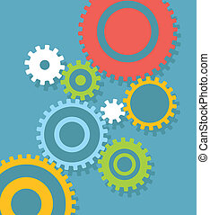 Flat design gear abstract background