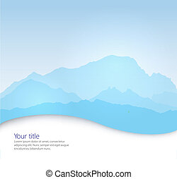 Vector Mont Blanc background with paper shadow effect