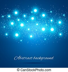 Blue Background with Lights