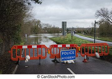Flooding - UK Winter Floods of 2014 in Cookham Village
