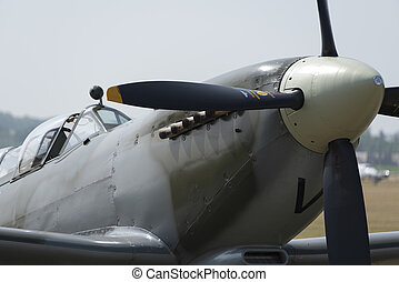 Vintage Spitfire fighter - Close up of vintage Spitfire...