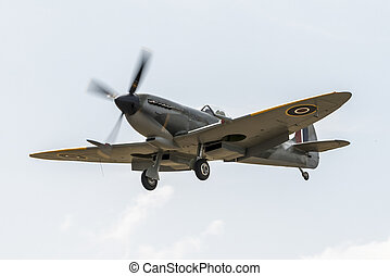 Spitfire - Vintage World War 2 Sptifire. British fighter...