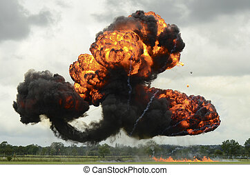 Large explosion - Photograph of large explosion as part of a...