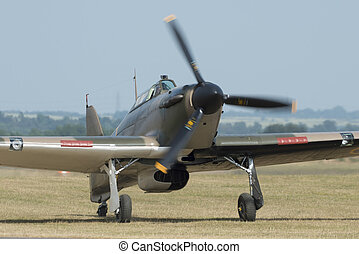 Hawker Hurricane fighter plane - Hawker Hurricane, World War...