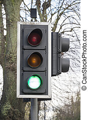Green light on traffic light