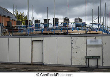 Building work - Construction site for development of new...