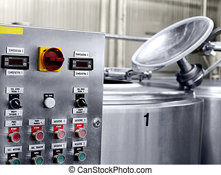 electronic control panel on the milk factory - Modern Dairy...