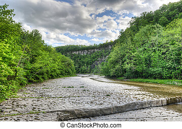 Path to Taughannock Falls, New York - Path to Taughannock...