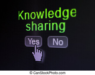 Education concept: Knowledge Sharing on digital computer...