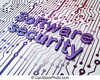 Protection concept:  Software Security on Circuit Board background