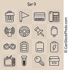 Outline Icons Set 9
